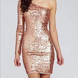 BCBG sequin body con dress